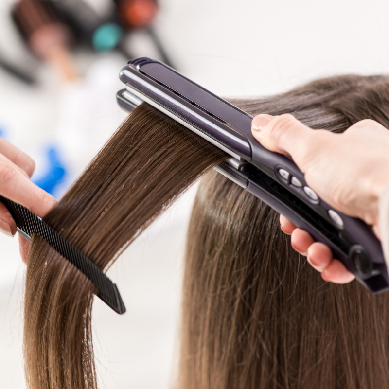 Can overheating the hair styling tools cause excess damage to hair?